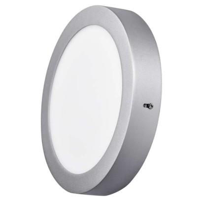 EMOS LED přisazené svítidlo, kruh stříbrná 18W neutrální bílá *ZM5242; 1539057130
