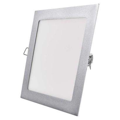 EMOS LED vestavné svítidlo, čtverec stříbrná 18 W neutrální bílá *ZD2242; 1540221870