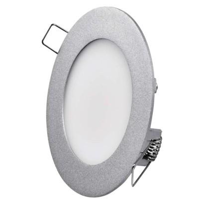 EMOS LED vestavné svítidlo, kruh stříbrná 6 W neutrální bílá *ZD1222; 1540120670