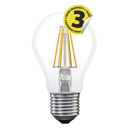 EMOS LED žárovka Filament A60 8W E27 teplá bílá *Z74250; 1525283220