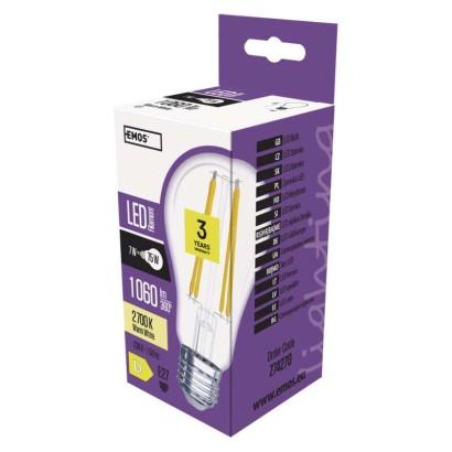 LED žárovka Filament A60 A++ 8W E27 teplá bílá