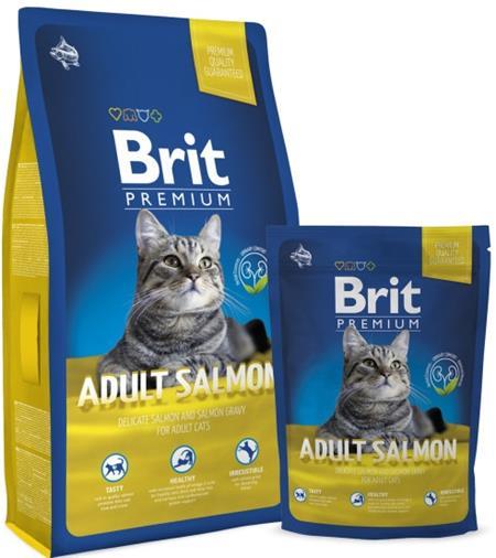 Brit Premium Cat NEW Adult Salmon 8 kg; 45548