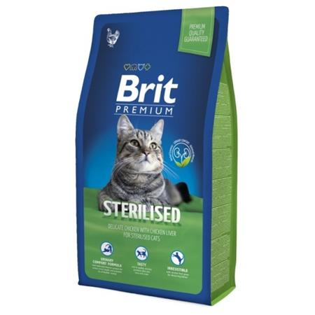 Brit Premium Cat Sterilised 8kg NEW; 81971