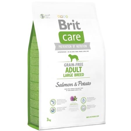 Brit Care Dog Grain Free Adult Large Breed Salmon & Potato 3 kg; 76659