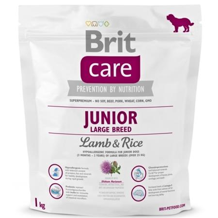 Brit Care Dog Junior Large Breed Lamb & Rice 1kg; 76636