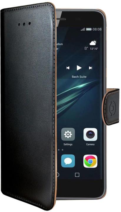 Pouzdro typu kniha CELLY Wally pro Huawei Y6 Ii Compact, PU kůže, černé
