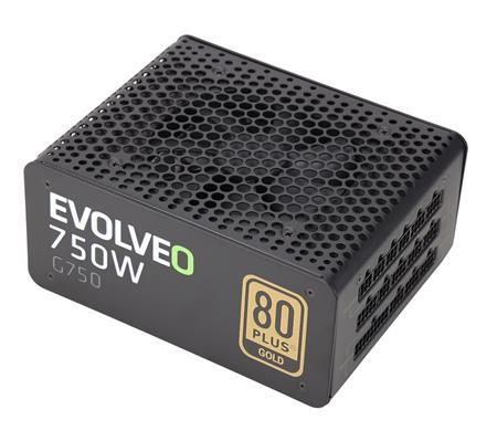 EVOLVEO G750 zdroj 750W, eff 91%, 80+ GOLD, aPFC, modulární, retail; E-G750R