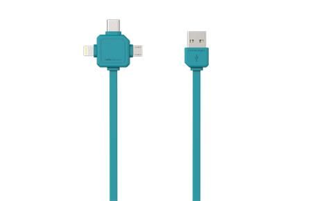 PowerCube USBcable USB-C Blue; 8719186003959