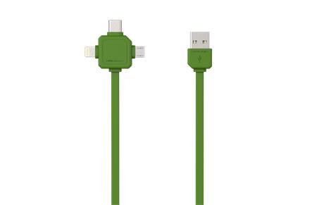 PowerCube USBcable USB-C Green; 8719186003942