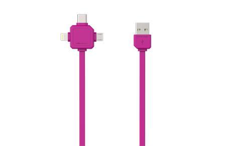 PowerCube USBcable USB-C Pink; 8719186003966