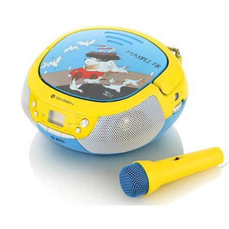 Gogen Radiopřijímač MAXIPREHRAVAC B s CD/ MP3/ USB, modrá/ žlutá; GOGMAXIPREHRAVACB