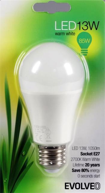 EVOLVEO EcoLight, LED žárovka 13W, patice E27, blister