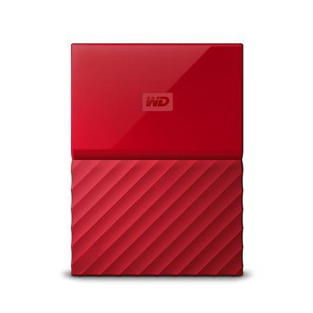 WD My Passport 2TB, červený; WDBYFT0020BRD-WESN