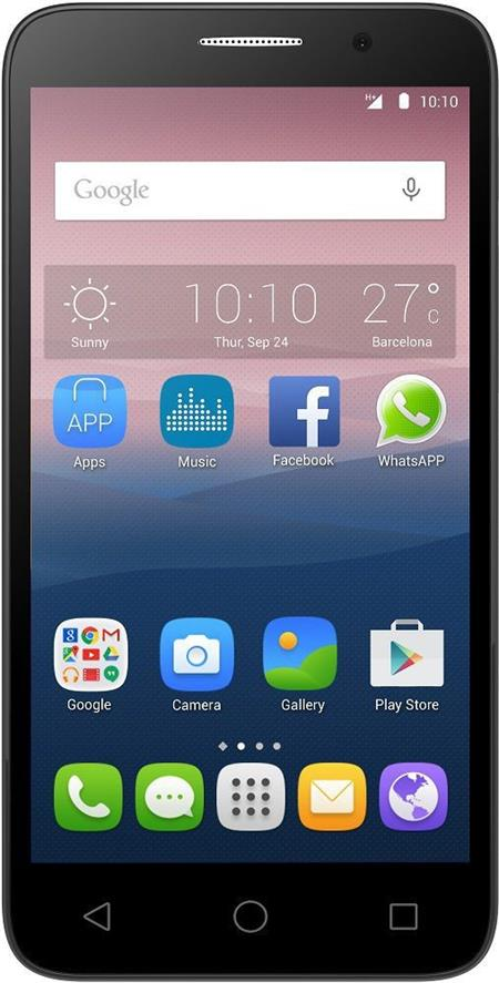 ALCATEL ONETOUCH 5025D POP 3 (5.5) Black Leather; 5025D-2CALE11