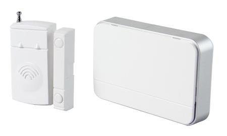 Solight Bezdrátový hlásič pohybu/gong, externí senzor - magnet, napájení bateriemi, bílý; 1D07