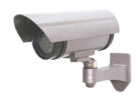 Solight Maketa bezpečnostní kamery, na stěnu, LED dioda, 2 x AA; 1D40