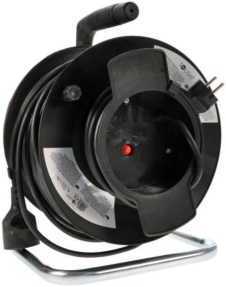 Solight 1z prodlužovací přívod - na bubnu, 50m, černý kabel; PB12