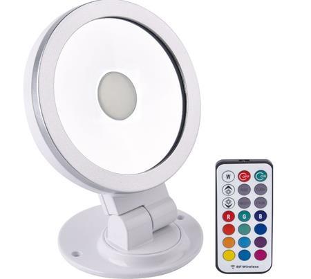 Solight RGB LED reflektor, 10W, dálkový ovladač, bílo-stříbrný; WM-10W-RGB