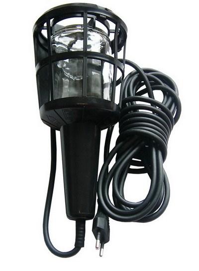 Solight Montážní lampa, E27, AC 230V, 5m, černá; WM11