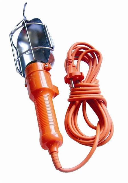 Solight Montážní lampa, E27, AC 230V, 5m, oranžová s kovovou mřížkou; WM12