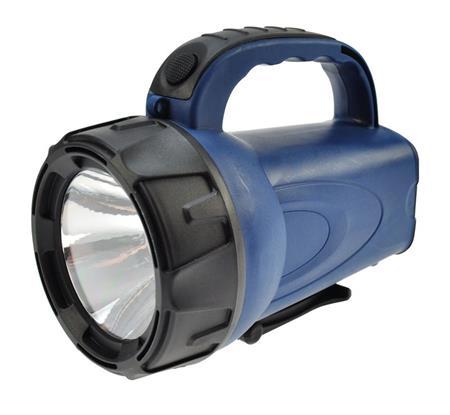 Solight Nabíjecí LED svítilna, 3W LED, Li-Ion, černomodrá; WN16
