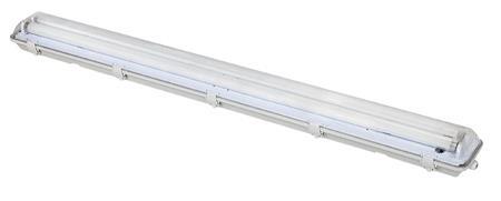 Solight Stropní osvětlení prachotěsné, G13, pro 2x 120cm LED trubice, IP65, 127cm; WO512