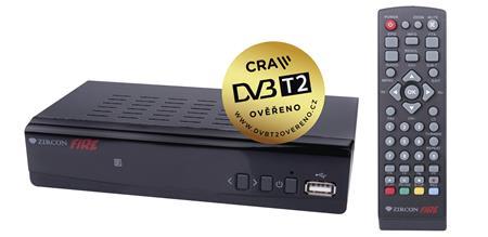 EMOS Set top box ZIRCON FIRE HEVC H265 (DVB-T2 přijímač) *J6010; 2520236100