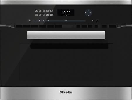 MIELE H 6401 BM nerez/clst- kompaktní pečicí trouba vestavná s mikrovlnou; 22640154D