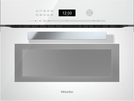 MIELE H 6401 BM bílá- kompaktní pečicí trouba vestavná s mikrovlnou; 22640114D