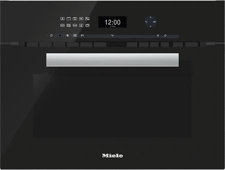 MIELE H 6401 BM černá- kompaktní pečicí trouba vestavná s mikrovlnou; 22640124D