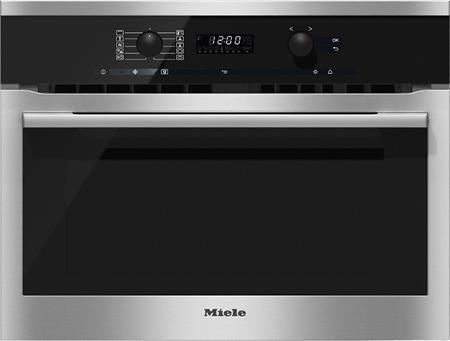 MIELE H 6100 BM nerez/clst- kompaktní pečicí trouba vestavná s mikrovlnou; 22610054NER