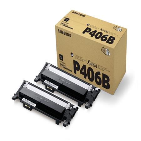 Samsung CLT-P406B/ELS - Black Toner Twin Pack; CLT-P406B/ELS