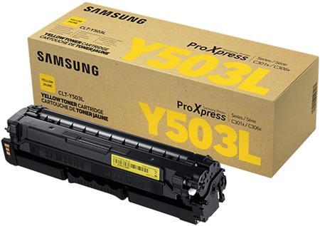 Samsung CLT-Y503L/ELS - Yellow Toner Cartridge; CLT-Y503L/ELS