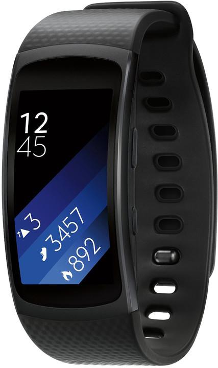 Samsung Gear Fit2 - fitness náramek, šedý; SM-R3600DAAXEZ