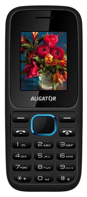 ALIGATOR D200 Dual sim černo-modrý; AD200BB