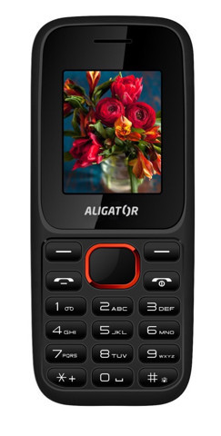 ALIGATOR D200 Dual sim černo-červený; AD200BR