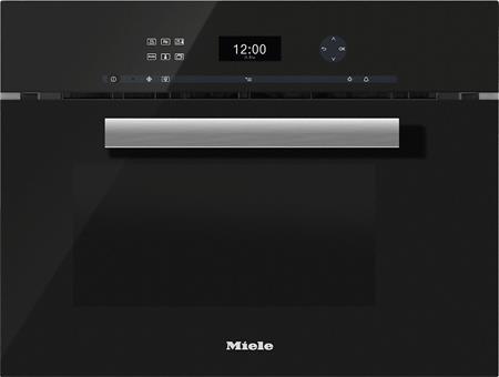 MIELE DGM 6401 černá - parní trouba s mikrovlnou; 23640124D