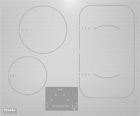 MIELE KM 6324-1 bílá - indukční varná deska ; 26632498D