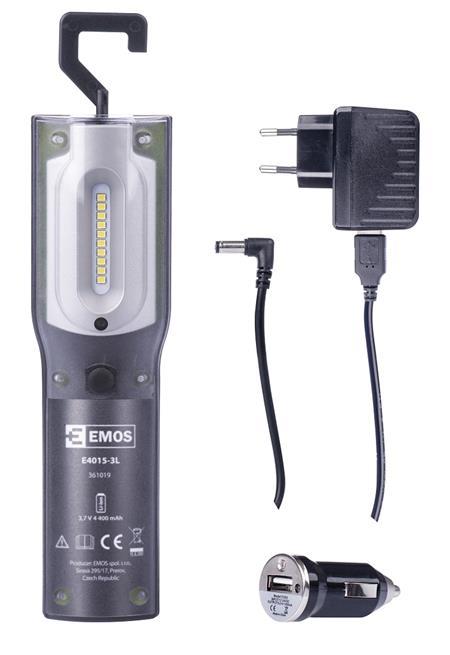 EMOS Nabíjecí svítilna LED P4522, 5W SMD + UV LED *P4522; 1450000210