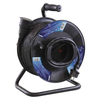 EMOS Gumový prodlužovací kabel na bubnu - spojka 50m *P08150; 1908215000