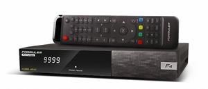 Formuler F4 TURBO - Full HD HEVC H265 satelitní přístroj, Enigma 2, 1 x DVB-S2 tuner; DBSOBFORF4TURBO