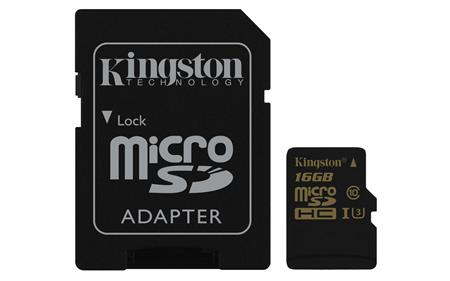 Kingston micro SDHC karta 16GB Gold UHS-I U3 ; SDCG/16GB