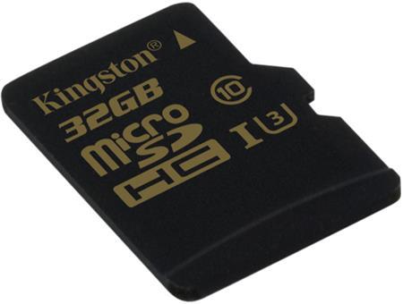 Kingston micro SDHC karta 32GB Gold UHS-I U3 (bez ad.); SDCG/32GBSP