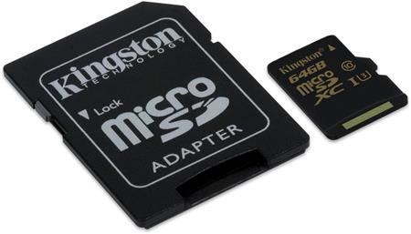 Kingston micro SDXC karta 64GB Gold UHS-I U3; SDCG/64GB
