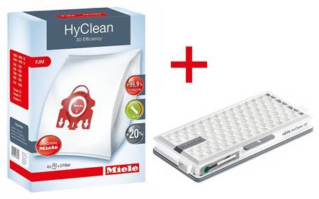 MIELE FJM Allergy XL - Originální sáčky HyClean 3D 8+1 filtr; 10632910