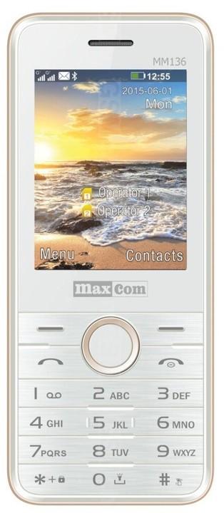 "MAXCOM Classic MM136 DualSim - 2,4"", fotoparát, bílo/zlatý; 5908235973500"