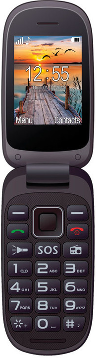"""MAXCOM Comfort MM818 DualSim - 2,4"""", fotoaparát, červený; 5908235973852"""