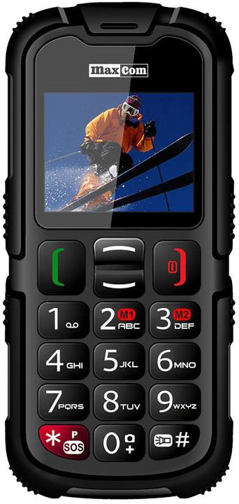 """MAXCOM Strong MM910 DualSim - 2"""", fotoaparát, BT, IP67, černý; 5908235973074"""