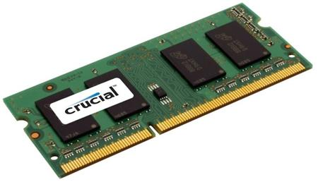 CRUCIAL 16GB (Kit 2x8GB) 1600MHz DDR3 CL11 SODIMM 1.35V/1.5V; CT2KIT102464BF160B