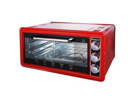 SATURN ST-EC1077 - Elektrická pečící trouba, objem 45l, výkon 1200W, časovač, červená; ST-EC1077 red
